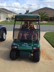 Me and my Sister in the Golfcart